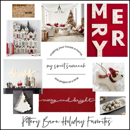 Merry merry merry! Love the traditional Christmas vibe from Pottery Barn this year!   #LTKhome #LTKHoliday #LTKSeasonal