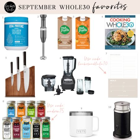 September Whole30 Favorites🛒 A few items that make the #Whole30 reset easier and more fun!! See the blog for more discounts and finds!    #LTKfit #LTKSeasonal #LTKunder50