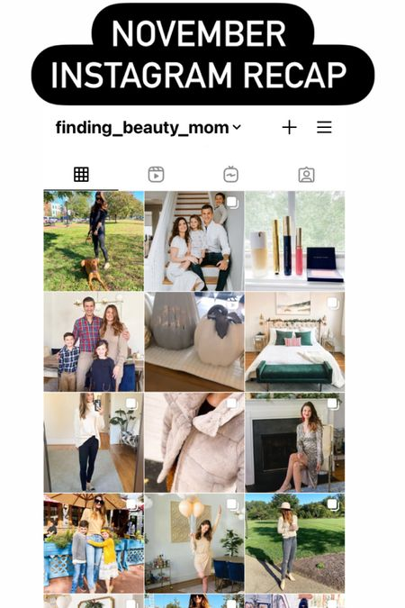 Instagram recap, What I wore in November, casual outfits, holiday decor, bedroom decor, family photo, holiday outfit http://liketk.it/32VKO #liketkit @liketoknow.it #StayHomeWithLTK #LTKhome #LTKstyletip