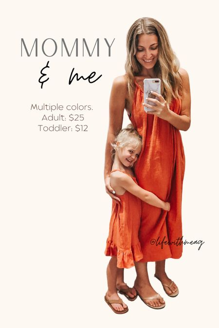 Mommy and me matching dresses or cover ups.   #LTKkids #LTKunder50 #LTKfamily