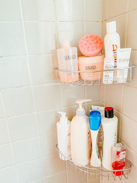 Shower shelves/ Billie razor/ hair mask code JACKIE20 , face wash and olaplex   #LTKhome #LTKGiftGuide #LTKbeauty