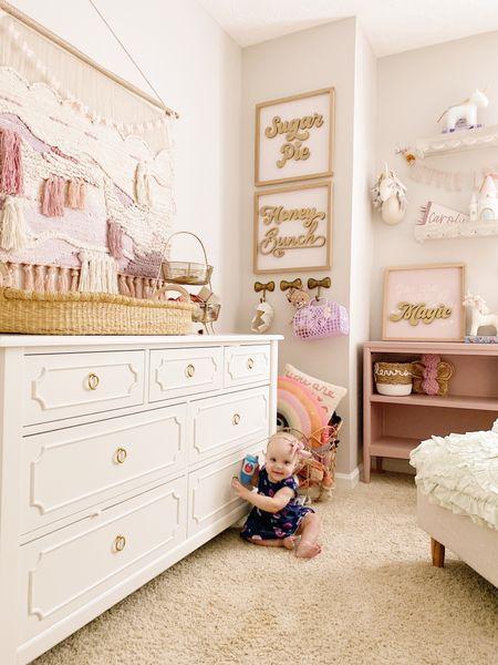 Baby girls room, girls room decor, pottery barn kids finds, wall decor, nursery decor, girls nursery   #LTKbaby #LTKkids #LTKfamily