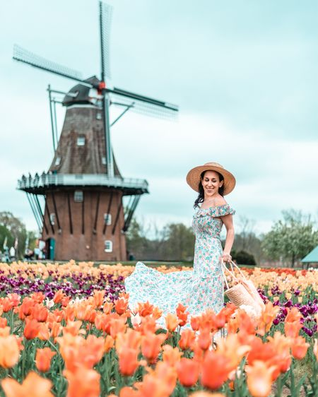🌷The tulips are in bloom and so is spring fashion! 🌷  Meet my new favorite maxi for frolicking in the flowers!  #LTKtravel #LTKSeasonal #LTKunder50