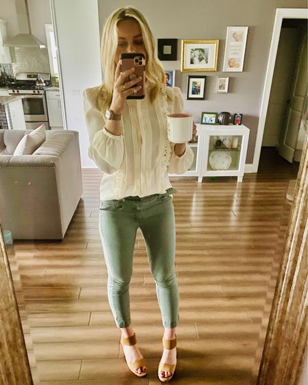 This white blouse is $15 on sale right now - normally $70!     #LTKunder50 #LTKworkwear #LTKsalealert http://liketk.it/3fG13 #liketkit @liketoknow.it #express #thebookofcaleb #sale #dealalert #summeroutfit #desmoines #midweststyle