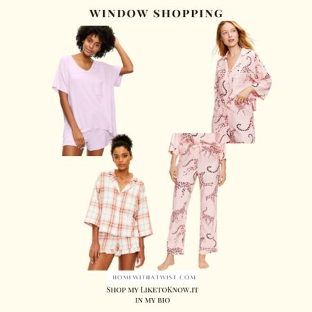 40% off sitewide at Loft! Check out these cute pajamas.   #LTKhome #LTKSeasonal #LTKfamily