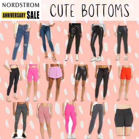 NSale Nordstrom anniversary sale affordable bottoms, leggings, jeans, pants, shorts, biker shorts   #LTKunder100 #LTKunder50 #LTKsalealert
