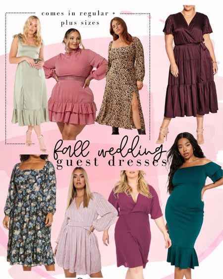 Fall wedding guest dresses for all sizes. Plus size dress. Wedding guest. Event dress    #LTKunder100 #LTKwedding #LTKcurves