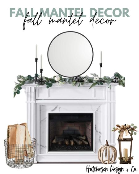 Neutral fall decor made simple, for your fireplace mantel! • I love the simplicity of this design! & you can actually keep this look year-round, just switch out the garland & the wooden pumpkin! •  http://liketk.it/2WYIe #liketkit #LTKhome #LTKstyletip @liketoknow.it @liketoknow.it.home  • Follow me on the LIKEtoKNOW.it shopping app to get the product details for this look and others