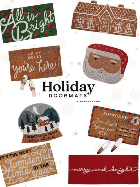 Holiday and Christmas doormats 🤶🏼   #LTKHoliday #LTKSeasonal #LTKhome