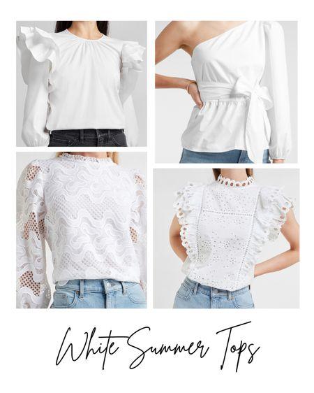 White and trendy tops for the hot summer!  #LTKSeasonal #LTKunder100 #LTKstyletip