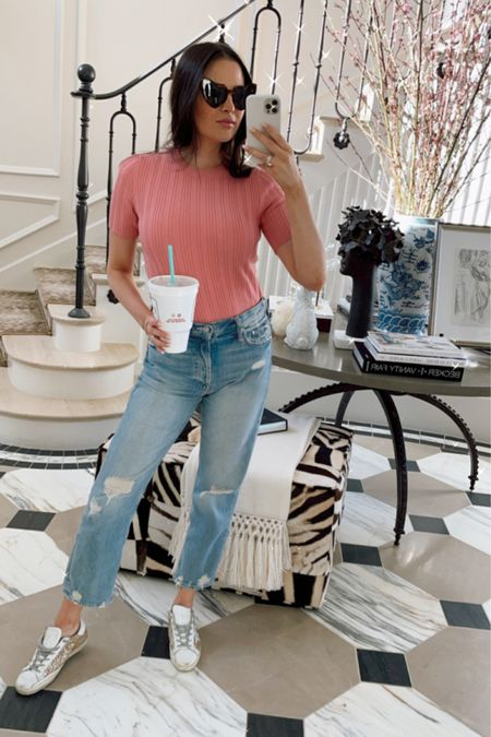 My daily uniform! My exact jeans are the first pair linked (Mother) http://liketk.it/3bLlR #liketkit @liketoknow.it