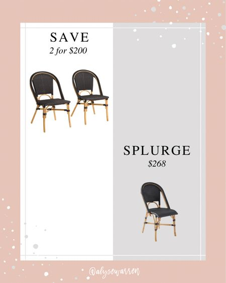 Serena & Lily Riviera Chair lookalike for a lot less!   Bistro chair, outdoor, patio furniture, kitchen, dining room   #LTKswim #LTKhome