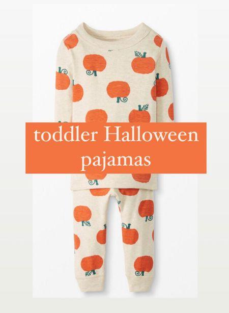 Toddler Halloween pajamas, little kid Halloween pjs, pumpkin pajamas  #LTKkids #LTKHoliday #LTKbaby