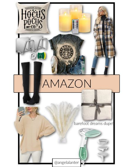 Today's best Amazon finds 🙌🏼 Halloween decor, fall sweater, plaid shacket, OTK boots under $50, barefoot Dreams dupe throw blanket and more 🎃  #LTKunder50 #LTKHoliday #LTKSeasonal
