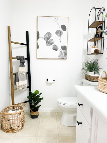 http://liketk.it/3j9io #liketkit @liketoknow.it #LTKhome  Shop my powder room!  #powderroom #towelladder #canetray #neutralspace #bathroom #neutralstyle #lightandbright #bathroomgoals #powderroomstyling #bathroomdiy #neutralstyling #loveyourhome