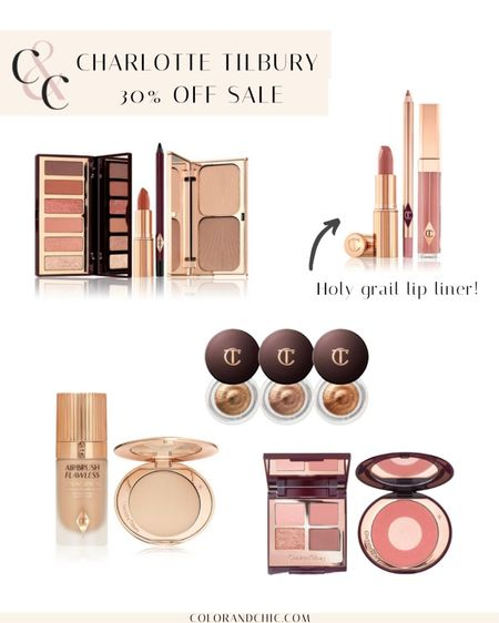 Charlotte Tilbury big summer sale  favorites including my holy grail pillow talk lip liner. Love their setting powder and blush for a flawless finish. The foundation is their best seller too! Also would make great gift idea and for summer glowy makeup.   #LTKunder100 #LTKsalealert #LTKbeauty