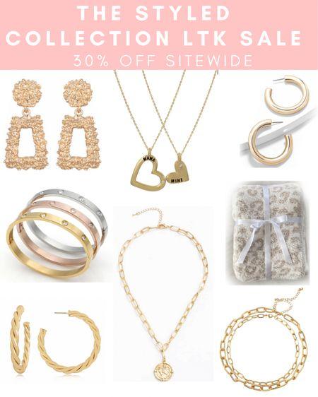 The Styled Collection 30% off SITEWIDE ✨ Use code: LTK30 . . .  http://liketk.it/3h6kU #liketkit @liketoknow.it #LTKDay #LTKsalealert #LTKunder50 bracelet, necklace, gold dainty jewelry, earrings, gold jewelry, gold hoop earrings, gold necklace, barefoot dreams blanket dupe