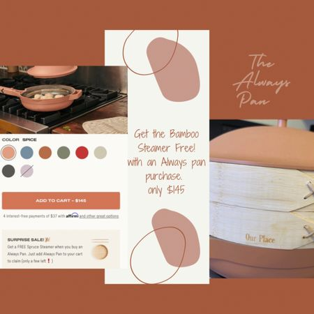 http://liketk.it/3j7bc #liketkit @liketoknow.it #LTKhome #LTKfamily #LTKsalealert  Our Place is having a nice mini sale.  Get the Bamboo steamer FREE, with an Always Pan purchase. Regularly $30.  Sale ends for the free item on 7/14 or while supplies lasts.  I can't recommend this enough!!  Has truly replaced so many different pans in my house, that I only use this one now. 🙃 need to snag another 🙌🏼   Pan price $145