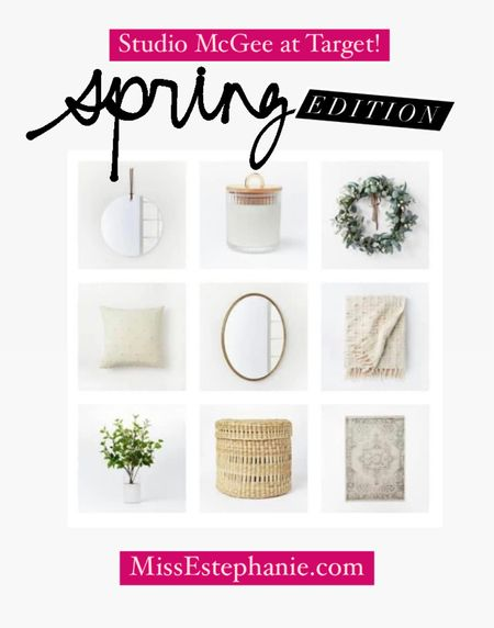 Threshold Studio Mcgee at Target faves! Love these key pieces to give your home an instant Spring refresh! All super affordable!  studio McGee // threshold studio McGee // targetstyle // target home // spring decor // patio furniture    #LTKhome #LTKstyletip #LTKunder100