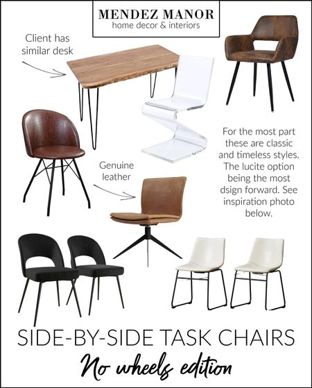 Helping my client choose task chairs for side-by-side work stations. Which is your favorite?   #LTKhome