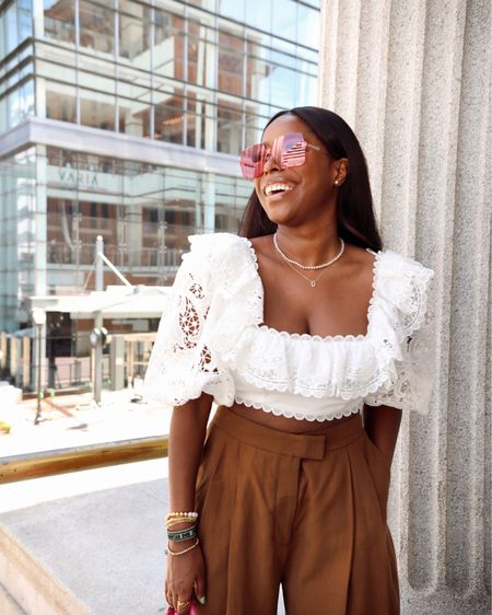 This top is 50% off! Check for your size here, each site has a different size left!  I'm wearing a size 2 http://liketk.it/3hGZS #liketkit @liketoknow.it #LTKsalealert
