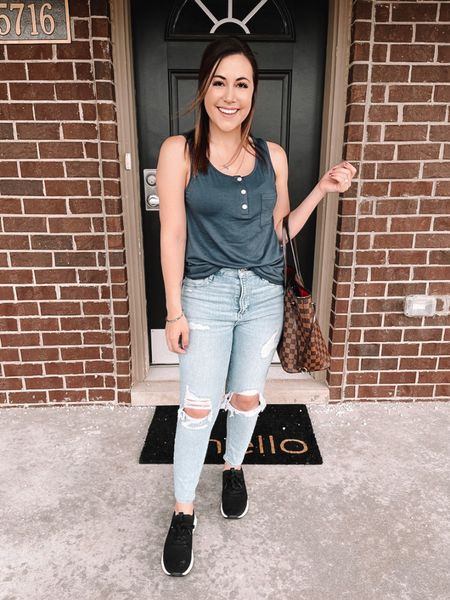 Got outside before the rain started today but at least it's still warm out! ☔️🌞  Stocking up on basic summer tops and found this one on Amazon for under $20. Comes in a few different colors and the quality is great.  You can instantly shop my looks by following me on the LIKEtoKNOW.it shopping app ✨   #LTKunder50 #LTKunder100 #LTKstyletip   http://liketk.it/3cofq   #liketkit @liketoknow.it