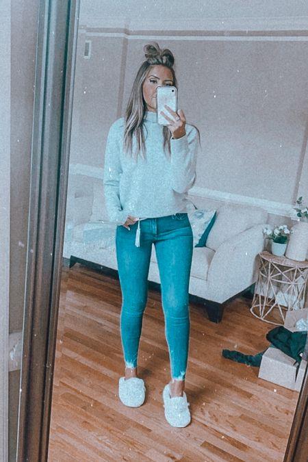 Nordstrom sale! Love this sweater!! TTS!!!  Good American jeans tts. I am wearing a size 6!   #LTKsalealert #LTKaustralia #LTKunder100