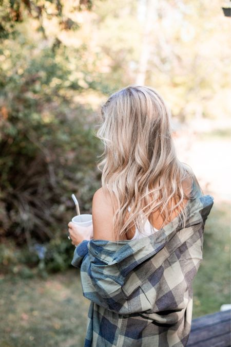 Craving cooler mornings to bust out all my favorite flannels! This one is the perfect oversized fit! Fall clothes, transitional pieces   #LTKSeasonal #LTKstyletip #LTKunder50