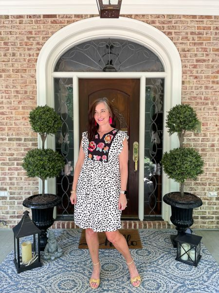 Such a fun, whimsical dress from Amazon for summer! The top is embroidered and the dress is lined! Love the modest length. This animal print design with floral top comes in several colors. I'm wearing a size small.    http://liketk.it/3gSsR #liketkit #LTKunder50 #LTKstyletip @liketoknow.it @liketoknow.it.home You can instantly shop my looks by following me on the LIKEtoKNOW.it shopping app