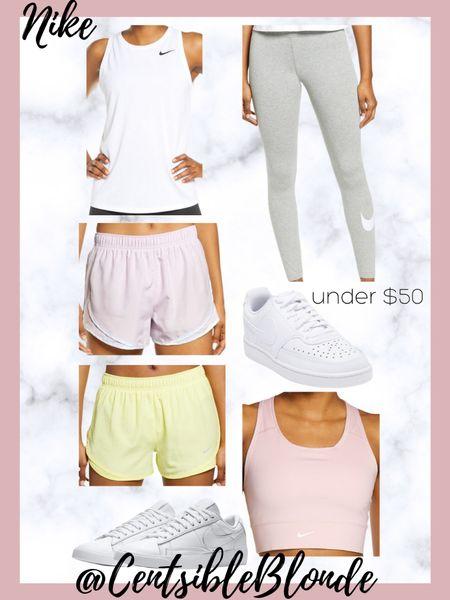 Nike activewear under $50, nike workout clothes  http://liketk.it/3i10Y #liketkit @liketoknow.it #LTKshoecrush #LTKunder50 #LTKsalealert