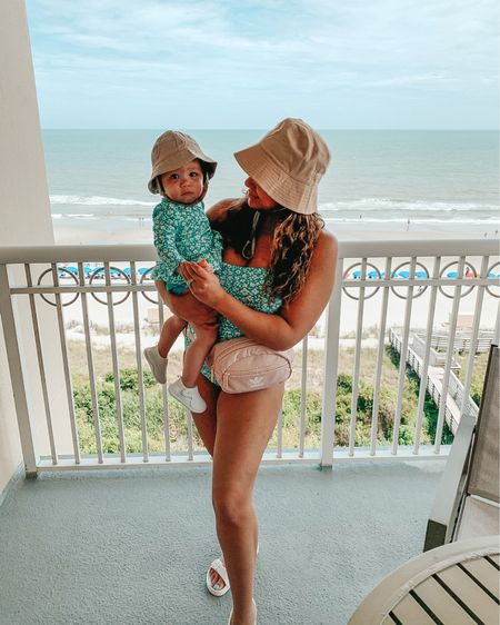 Bucket hat beach babe 💕 Restock alert! Our matching swimsuits are restocked along with a bunch of other matching family styles. Linking these exact swimsuits and our bucket hats on @shop.ltk app or shop through the link in my bio @liketoknow.it @liketoknow.it.family http://liketk.it/3j6QN #liketkit #LTKswim #LTKtravel #LTKfamily #onepieceswimsuit #onepiece #targetstyle #twinningwithmommy #mommyandme #babyswimsuit #momstyle #buckethat #matchingfamily #realmomstyle #petiteblogger #mommyblogger #beachvacation #travelstyle #targetaddict #twinning