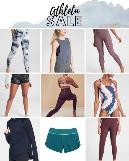 Athleta Sale, Athletic Leggings, Athletic Tank Top, Tie Dye Swimsuit, Black and White Tie Dye, Athletic Shorts.  http://liketk.it/2Pqbp #liketkit @liketoknow.it