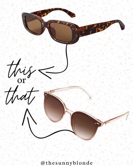 This or that? Summer sunnies are essential!   #LTKsalealert #LTKstyletip #LTKfit