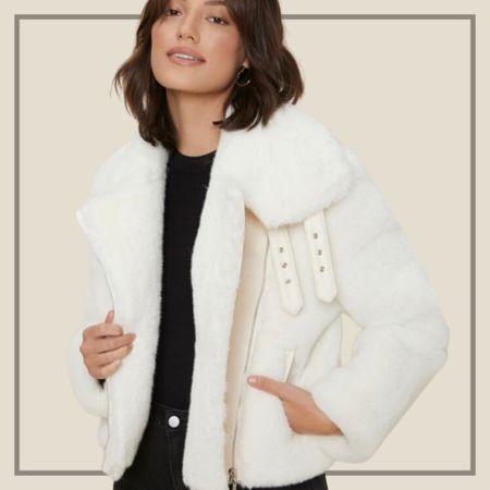 Premium fuzzy crop coat jacket from Shein   #LTKSeasonal #LTKunder50 #LTKunder100