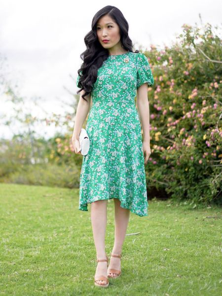 Floral Green Dress with the right amount of whimsy and sophistication! Pair with some wedges and a beaded clutch for a refreshing spring style! http://liketk.it/3bOdC #liketkit @liketoknow.it