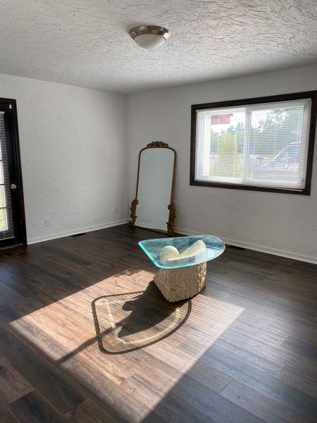 New gold floor mirror     #LTKhome #LTKstyletip