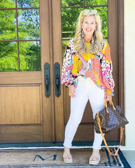 Life's to short to wear boring clothes… but if I'm going to invest in a statement top, there better be multiple ways to wear it! Picture this with black jeans, cut off shorts, a white denim skirt!  http://liketk.it/3heRG #liketkit @liketoknow.it #LTKstyletip