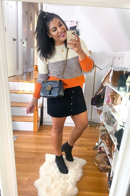 Fall amazon sweater with corduroy button up skirt & waterproof booties 🍂🍁 #liketkit http://liketk.it/2YmT9 @liketoknow.it #amazon #amazonfavorites #amazonfinds #amazonfashion #sweaterweather #ltkcurves  #LTKunder50 #LTKunder100 #LTKFall