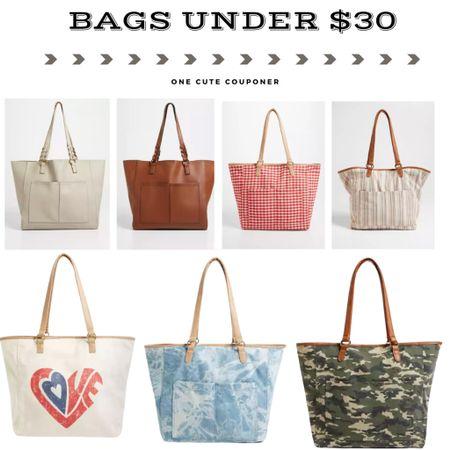 Handbags & Totes under $30!  http://liketk.it/3iSig #liketkit @liketoknow.it #LTKunder50 #LTKunder100 #LTKsalealert
