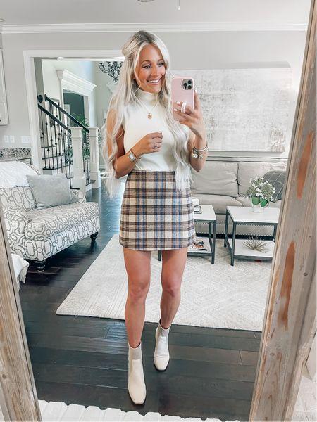 Bodysuit // Medium Skirt // Small (size up!) Booties // TTS   #LTKunder100 #LTKshoecrush #LTKstyletip