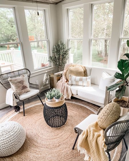 Wayfair indoor/outdoor rug sale! Love these summer throws and pillows on these cozy indoor/outdoor chairs and loveseat!🤍 http://liketk.it/3eCnW #liketkit @liketoknow.it #LTKsalealert #LTKhome #LTKstyletip @liketoknow.it.family @liketoknow.it.home Shop my daily looks by following me on the LIKEtoKNOW.it shopping app