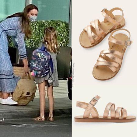 Princess Charlotte wearing Boden everyday sandals #kids #toddler #baby #girls #vacation #princess   #LTKstyletip #LTKshoecrush