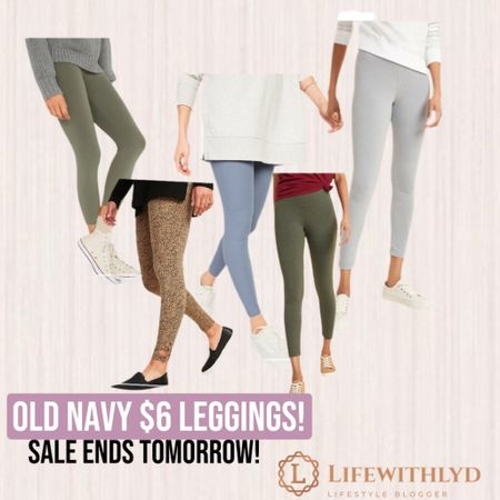 Old Navy SALE! $6 leggings. I have a pair of Old Navy leggings & they are so soft! They usually run around $20. This is a STEAL.  CLICK LINK IN BIO TO SHOP! 💕   #liketkit @liketoknow.it http://liketk.it/36CSa