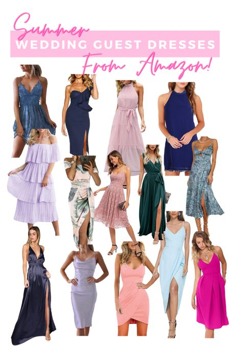 Summer wedding guest dresses from amazon! Rounded up all of my favorite summer dresses for weddings under $50! A lot of these dresses would also be great for a beach vacation outfit! So many cute maxi dresses, off the shoulder dresses, midi dresses and mini dresses http://liketk.it/3h2g5 #liketkit @liketoknow.it #LTKunder50 #LTKwedding #LTKtravel