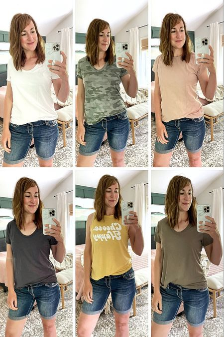 Lightweight summer T-shirt's and tanks for under $10! These are my favorite summer tees because they aren't see through but they are still super light and comfortable. The perfect toss on and go everyday outfit. http://liketk.it/3hbNa #liketkit @liketoknow.it #LTKhome #LTKsalealert #LTKunder50 #womenstshirt #ootd #tshirt #summeroutfit