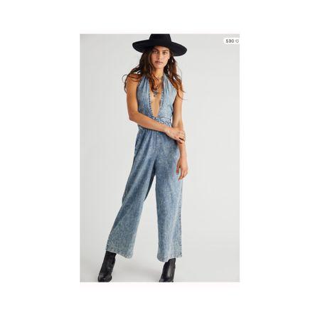 📷 Deep V denim overalls from Free People! http://liketk.it/3l5WK #liketkit @liketoknow.it