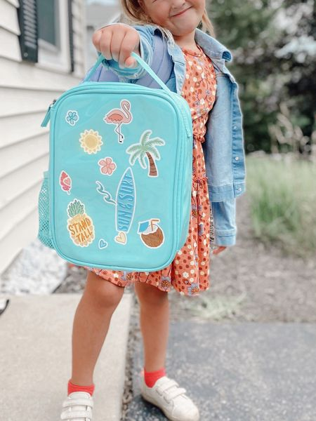 DIY decorating kids lunch box by Fit and Fresh on #amazon under $20! Leakproof and Insulated! #BTS #backtoschool  #LTKitbag #LTKfamily #LTKkids
