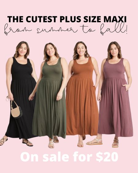 The cutest plus size maxi dress is on sale for just $20! Style it from summer to fall and wear it season after season. Plus size fashion doesn't have to be boring!   #LTKunder50 #LTKcurves #LTKsalealert