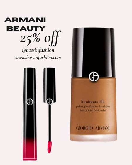 Armani beauty on sale for LTK! I love their lip glosses. They are moisturizing and stunning on! I always used to wear their foundation but I stopped because I wanted more coverage when I was younger. Armani foundation is light and natural. I'm going back to this foundation now since I'm older. #armanibeauty #giorgioarmani #lipgloss #ltkday #liketkit http://liketk.it/3hsTQ @liketoknow.it #LTKbeauty #LTKsalealert You can instantly shop all of my looks by following me on the LIKEtoKNOW.it shopping app