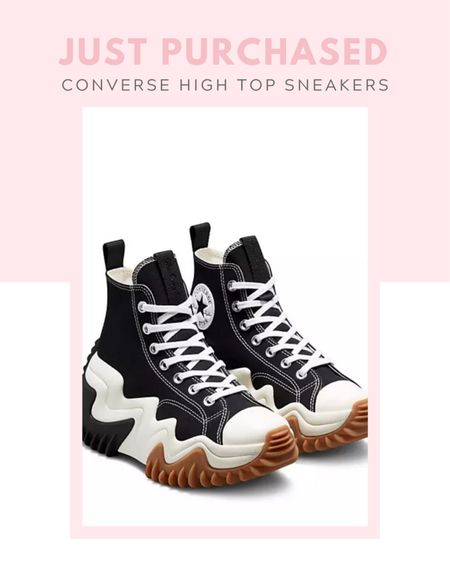 Just purchased: Converse Run Star Motion Hi canvas platform sneakers in black, comfy shoes, casual, new arrival, black and white, fall / winter, spring / summer, available at ASOS, free people, Urban outfitters   #LTKshoecrush #LTKtravel #LTKstyletip